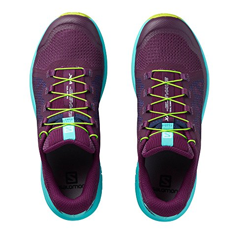 de Morado 000 para Dark Curacao W Salomon Elevate Trail Acid XA Blue Zapatillas Running Mujer Purple Lime q1RSxwfIz
