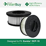 2 - Eureka DCF-19 (DCF19) Washable & Reusable Cartridge Replacement Filters, Part # 63950. Designed by FilterBuy to fit Eureka Boss Whirlwind Lite 450 Upright Vacuum Cleaner