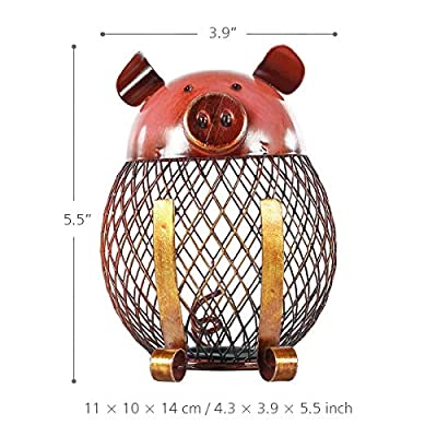 Tooarts Vintage Piggy Bank Children Toy Money Bank, Metal Coin Holder Boy Girls Coin Money Cash Saving Box for Decoration Gift: Home & Kitchen