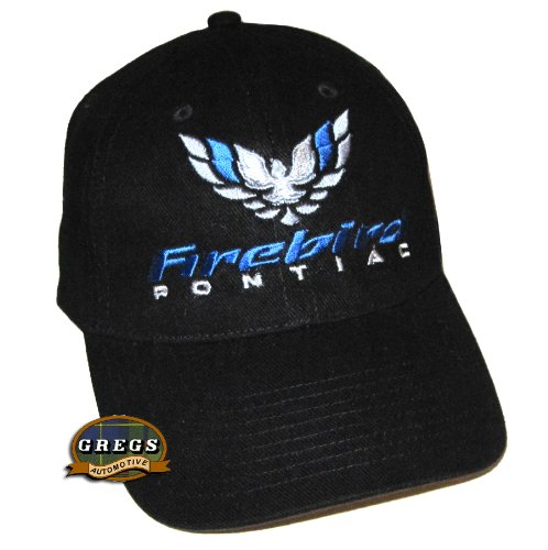 Pontiac Firebird Hat Cap Black Racing Decal Included (Decals Pontiac Racing)