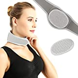 Tourmaline Self-Heating Neck Brace, Neck Wrap 2 in 1 Adjustable Cervical Collar, Upgraded Magnetic Therapy Neck Pad for Neck Pain Relief, Sleep Apnea, Arthritis, Depression, Tension, Headaches, Natural Remedy for Men & Women