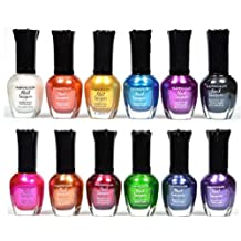 Kleancolor Nail Polish - Awesome Metallic Full Size Lacquer Lot of 12-pc Set by Kleancolor