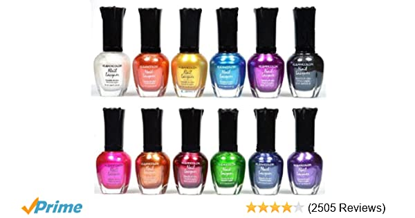 Amazon.com   Kleancolor Nail Polish - Awesome Metallic Full Size Lacquer  Lot of 12-pc Set Body Care   Beauty Care   Bodycare...   Beauty ecc4ed875a05