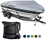 Leader Accessories 600D Polyester 5 Colors Waterproof Trailerable Runabout Boat Cover Fit V-Hull Tri-Hull Fishing Ski Pro-Style Bass Boats, Full Size