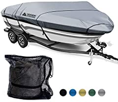 1.Made of 7.25 oz. 600D heavy duty marine grade polyester fabric with urethane coated       2.Fit most popular Hull styles with five sizes       3.Water repellency,UV resistance, and elastic cord hem       4.Double stitched interlocks ...