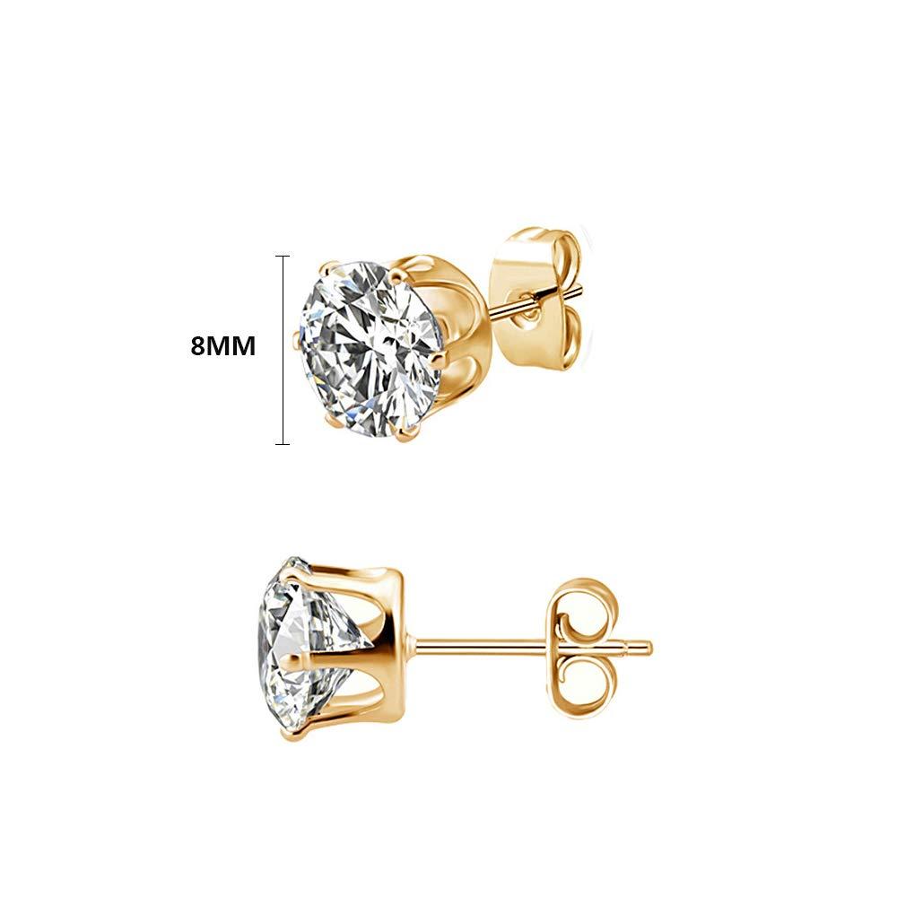 Hoop Earrings Gold Men Earrings Studs Diamond Cross Earrings Gold Earrings Men Women Small Huggie Piercing Plug 6 Pairs Stainless Steel Gold Hoop Earrings Stud Earrings for Men Women Girls Boys