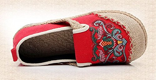 Basse Tianrui Espadrillas Red Donna Crown EPPw7