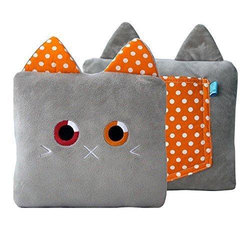 Poketti Plushies with a Pocket Plush Toy Cat Pillow Roxi the Kitty