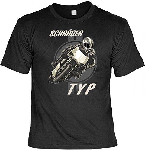 Witziges T-Shirt für Motorradfahrer - Schräger Typ - lustiges Motorrad Funshirt für begeisterte Biker