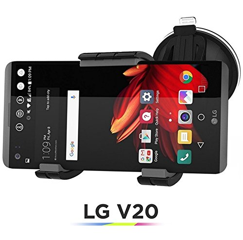 Price comparison product image LG V20 Easy-dock Car Mount Holder (Windshield & Dashboard Cradle) [2016 Version] by Encased