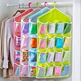 Best FakeFace Toiletry Bags - 16Pockets Oxford Hanging Organizer Wardrobe Closet Shoe Storage Review