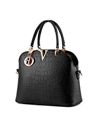 Pahajim Women handbags Luxury leather handbags crocodile pattern Shoulder bag