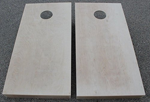 BackYardGamesUSA Unfinished Cornhole Boards BEANBAG TOSS Game Set w Pick Your Colors - Wood Solid Stained