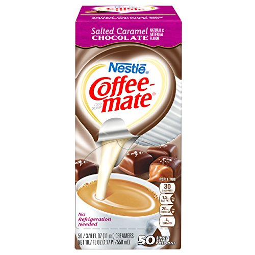 NESTLE COFFEE-MATE Coffee Creamer, Salted Caramel Chocolate, liquid creamer singles, 50 Count, Pack of 4 by Nestle Coffee Mate (Image #1)