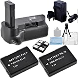 Replacement Nikon MB-D10 Battery Grip + 2 High Capacity Longest Lasting EN-EL14 Batteries + 110-220V Worldwide Use Charger Kit for D5200