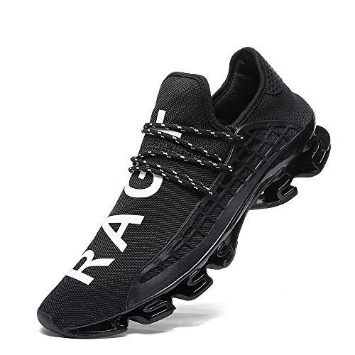 - XIDISO Mens Running Shoes Womens Slip On Blade Mesh Fashion Men's Sneakers Athletic Tennis Sports Cross Training Casual Walking Shoe for Men Black