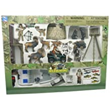 New Ray Deluxe Nature Wild Game Hunting & Fishing Ultimate All in One Playset with Fish , Deer , Moose ,Bear , Dogs and More
