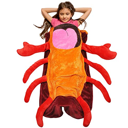 Catalonia Kids Hooded Wearable Lobster Snuggle Tail Blanket,Super Soft Plush Sleeping Bags for Toddler Children Teens Boys Girls, Gift Idea