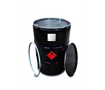 BARRELQ gran barbacoa barril O57 cm Acero inoxidable Fondo ...