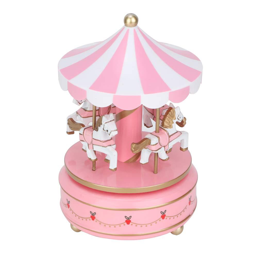 AUNMAS Carrusel Caja de m/úsica Juguete para ni/ños Merry-Go-Round Caja de m/úsica para Navidad Boda Regalo de cumplea/ños Regalo de ni/ña Decoraci/ón para el hogar 1#