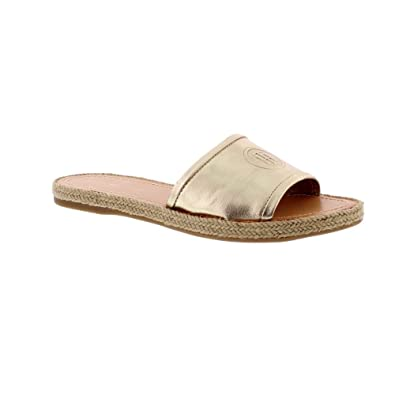 Tommy Hilfiger Women's Metallic Flat Mule Open Toe Sandals Low Shipping Sale Online dkRsWF8A