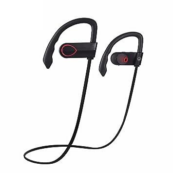 Joyeer Auricular inalámbrico Bluetooth prueba de sudor estéreo auriculares earbud gancho auricular de control de voz