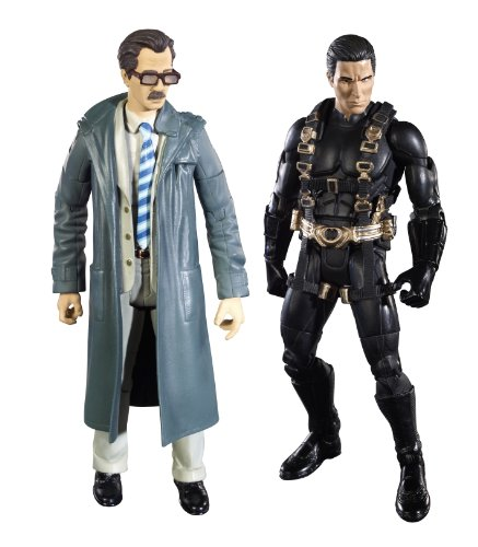 Batman Legacy Batman Begins Prototype Suit Batman And Lt. Jim Gordon Collector Figure (Realistic Batman Suit)