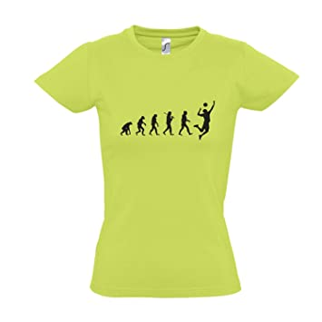 268f742dc04acd Damen T-Shirt - EVOLUTION - Volleyball Sport FUN KULT SHIRT S-XXL ...