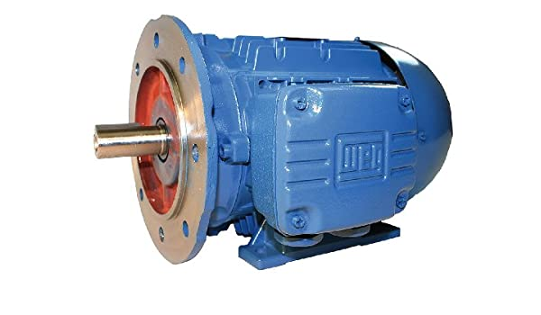 METRIC 3600 RPM Aluminum 3-Phase C-Face 1.5 HP Electric Motor