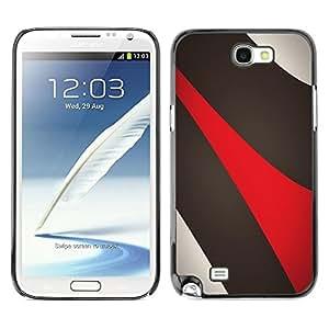 Be Good Phone Accessory // Dura Cáscara cubierta Protectora Caso Carcasa Funda de Protección para Samsung Note 2 N7100 // Abstract Lines