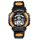 Dumanfs Father and Kids Waterproof Digital LED Quartz Alarm Date Sports Wrist Watch