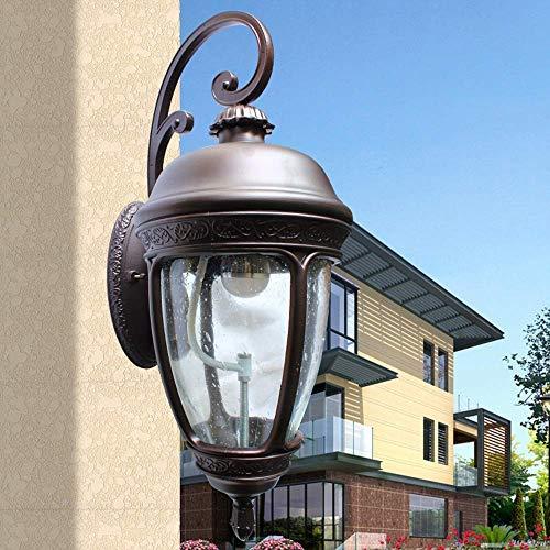 Tête Unique Européenne Victoria Court Imperméable À L'extérieur Mur Couloir Couloir Allée Balcon E27 Décoration Applique En Verre Antique Lanterne Jardin Lumière Porte Post Lamp