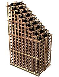 Designer Waterfall Wine Rack Premium Redwood Light Stain
