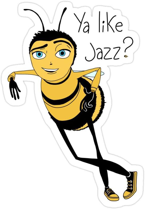 (3 PCs/Pack) Bee Movie Ya Like Jazz 3x4 Inch Die-Cut Stickers Decals for Laptop Window Car Bumper Helmet Water Bottle