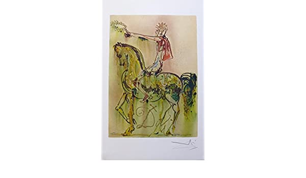 Salvador Dali Signed Dalinean Horses CHEVALIER ROMAIN by Georges Israel SPADEM