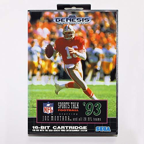 Sports Talk Football '93 Starring Joe Montana Game Cartridge 16 Bit Md Game Card With Retail Box For Sega Mega Drive For Genesis