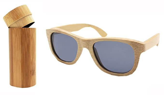 869cae0686d 100% Hand Made Genuine Bamboo Sunglasses Polarized Wooden Sun Glasses  Lightweight Wood Entire Frame Glasses
