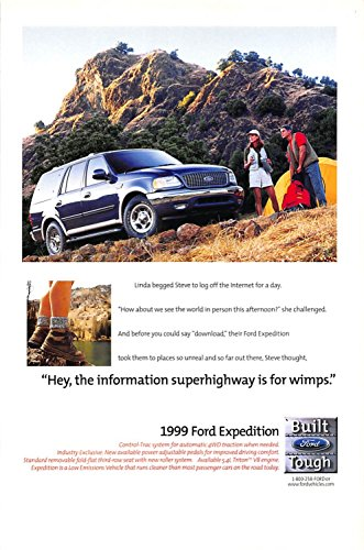 (Print Ad 1999 Ford Jeep control-trac system for automatic 4WD traction when needed )