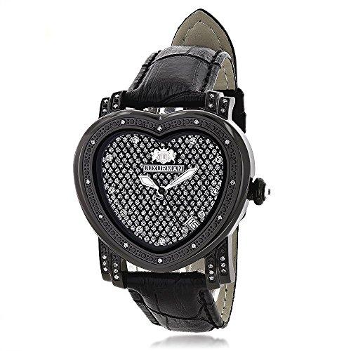 LUXURMAN Diamond Heart Watch 0.25ct - Watch Floating Pink Diamonds