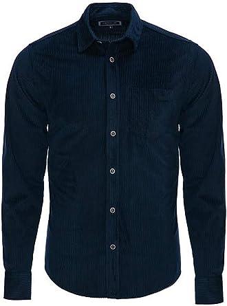 Carisma CRM8477 - Camisa de cord para hombre, color azul ...