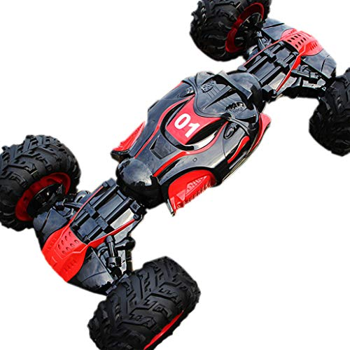 Klions One Key Transformation Stunt RC Car Double-Sided Flip 4WD 1:12 RC Off-Road Vehicles Gift for Boys and Girls Rock Crawler Buggy Hobby Car