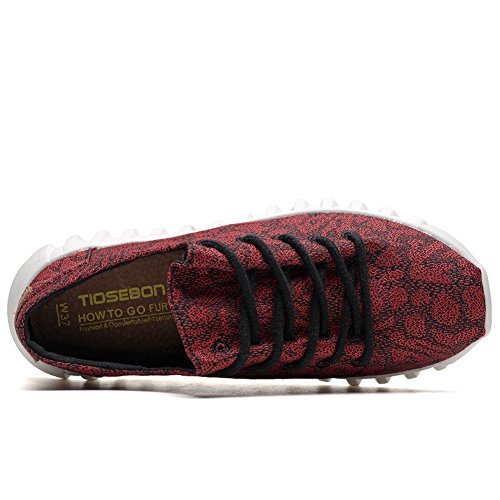 Femme Hk2207 Tiosebon Red Pour Mode Baskets 2207 I4IqBU7n
