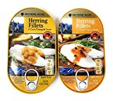 Deutsche Kuche Canned Herring Fillets, Curry Pineapple and Mango Pepper Sauce, 7.05 oz each, 2 pack
