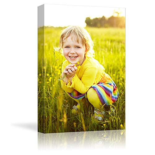 NWT Custom Canvas Prints with Your Photos for Kids Aging, Personalized Canvas Pictures for Wall to Print Framed 14x11 inches (Best Cheap Canvas Prints)