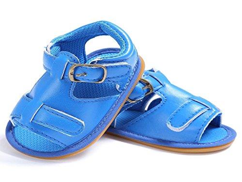 Verano 18meses Sandalias Bebé Del Koly 0 Manera De La Azul Cuero Suaves v68Zw