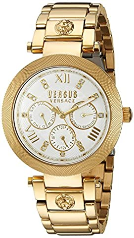 Versus by Versace Women's 'Camden Market' Quartz Stainless Steel Casual Watch, Color:Gold-Toned (Model: SCA030016)