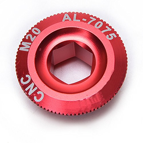 Crank Parts (Ioffersuper Mounta Bike Bicycle Parts Crank Arm Screws Crankset Arm Bolt CNC for SHIMANO Red)