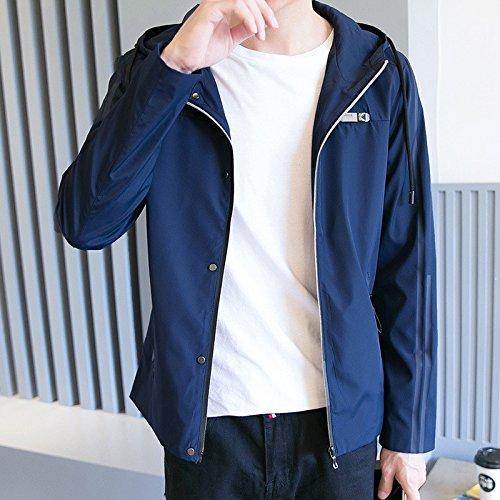 Gioventù Coreana xxxl Uomini Sottili Moda Di Gli Versione Cappotto Blu Uomo Studenti La Autunno Della Tendenza Scuro Caduta Nella Giacca PB5qWnnHRw