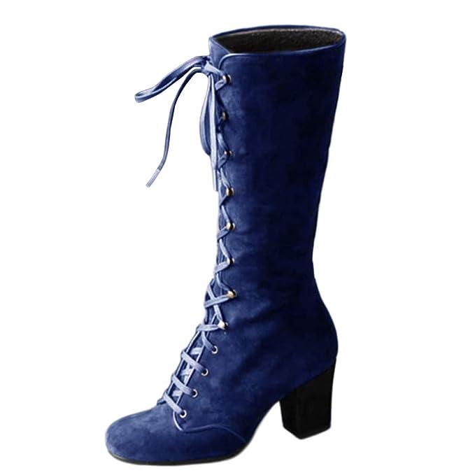 Jorich de zapatos zandalias Botas Altas Mujer Botines Tacón ...