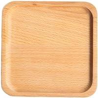 BESTONZON Bandejas para servir de madera para alimentos